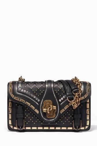 8c037878be1d Bottega Veneta. Black Catena Studded City Knot Shoulder Bag