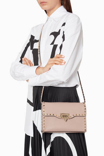 hover state of Small Rockstud Leather Cross-Body Bag