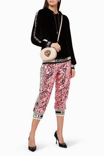hover state of Sequinned Cropped Track Pants