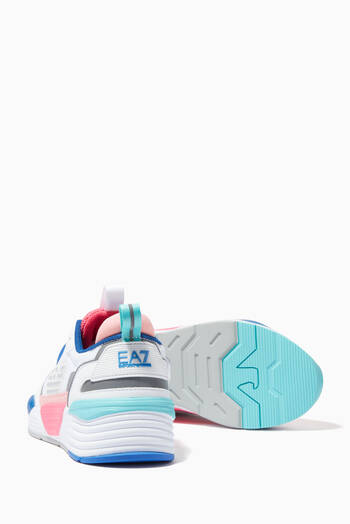 hover state of EA7 Ace Runner Chunky Sneakers in Eco Leather