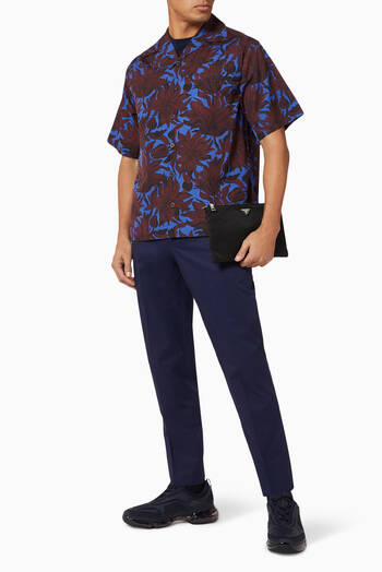 hover state of Sunflower Print Cotton Bowling Shirt