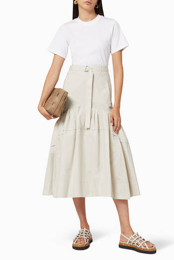 hover state of Cotton Belted T-Shirt Dress