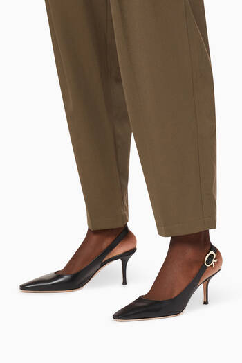 hover state of Slingback 70 Pumps in Nappa
