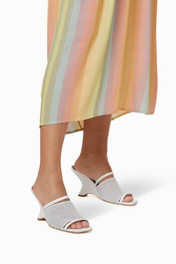 hover state of Demi 80 Wedge Sandals in Mesh Nappa