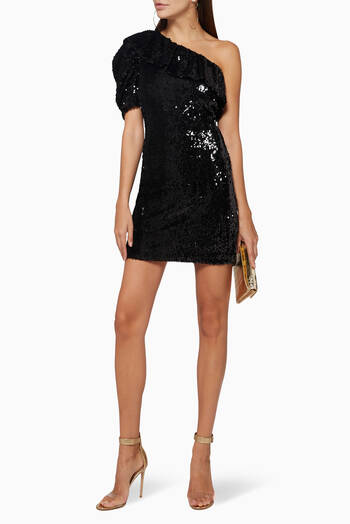 hover state of Roxe Sequin Mini Dress