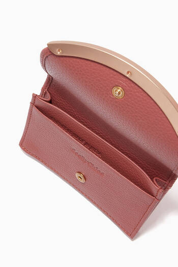 hover state of Lizzie Card Holder in Grained Calfskin