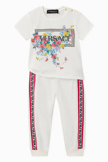 hover state of Greca Intarsia Jersey Sweatpants