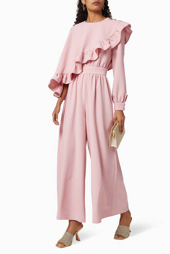 hover state of Frill Textured Jumpsuit