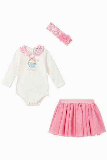 hover state of Alice Bodysuit & Tutu Set, Set of 3