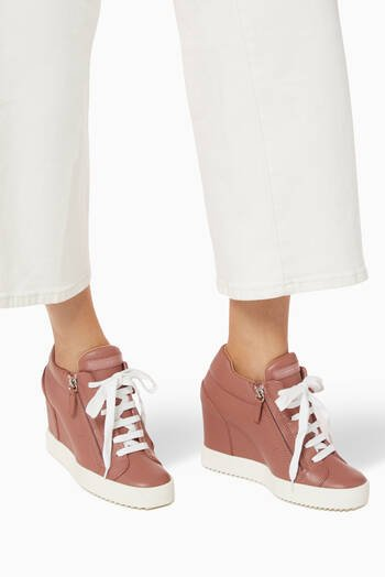 hover state of Addy 75 Wedge Sneakers in Leather