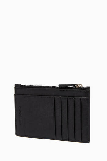 hover state of Award Zip Card Holder in Italian Leather
