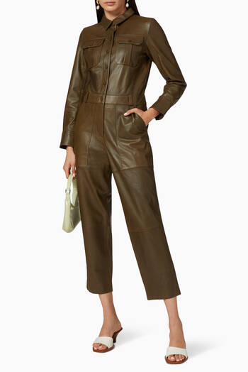 hover state of Boiler Leather Jumpsuit
