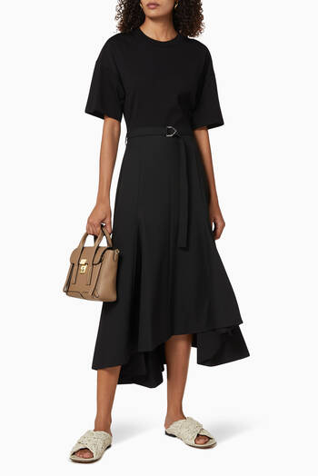 hover state of Cotton T-shirt Dress with Asymmetrical Skirt