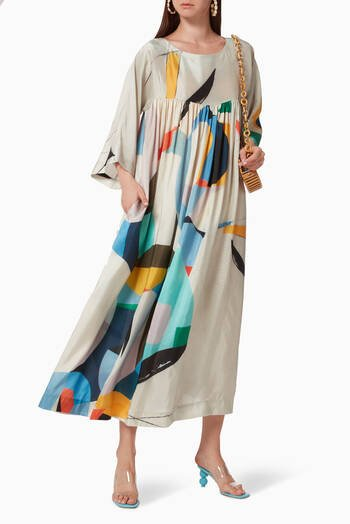 hover state of Thiebaud Garden Silk Dress