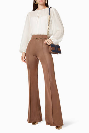 hover state of Bi-Elastic Bell-Bottom Pants