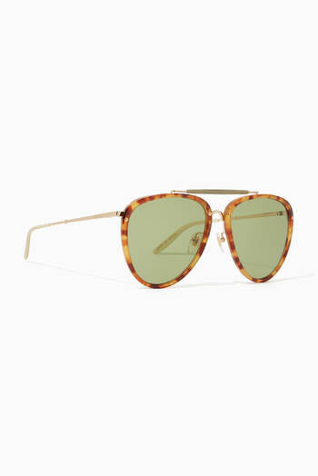 hover state of Aviator Acetate Sunglasses