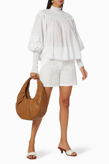 hover state of Lucianna Linen Smock Top