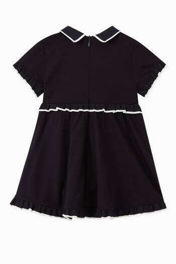 hover state of Ruffle Trim Jersey Polo Dress