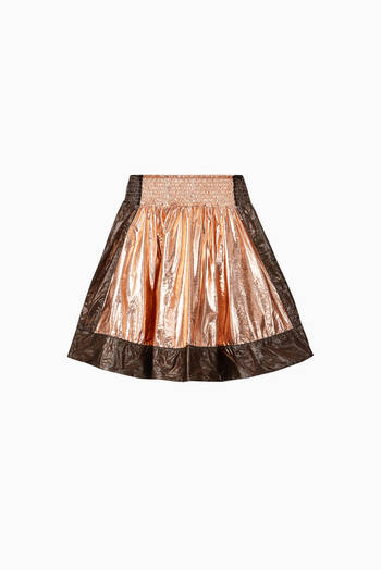 hover state of Metallic Basketball Skirt