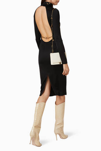 hover state of Viscose Jersey Midi Dress