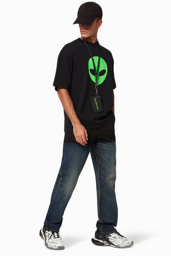 hover state of Alien Medium Fit T-shirt in Vintage Jersey