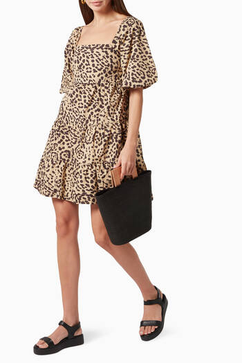 hover state of Eryn Poplin Mini Dress