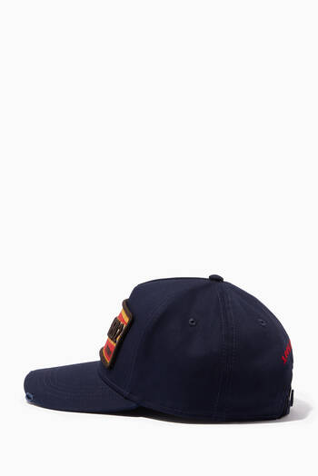 hover state of D2 Twins Baseball Cap in Cotton