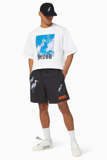 hover state of Printed Swim Shorts