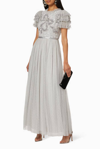 hover state of Shirley Sequin Embellished Maxi Dress