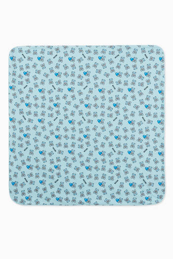 hover state of Bear & Heart Reversible Baby Blanket
