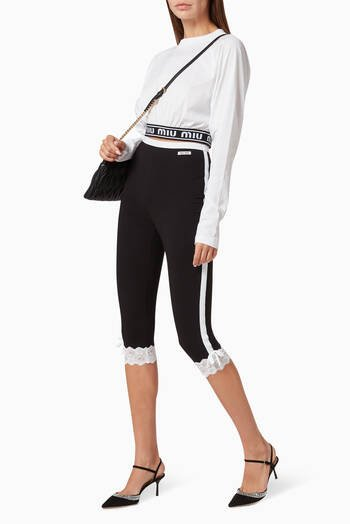 hover state of Lace Jersey Leggings