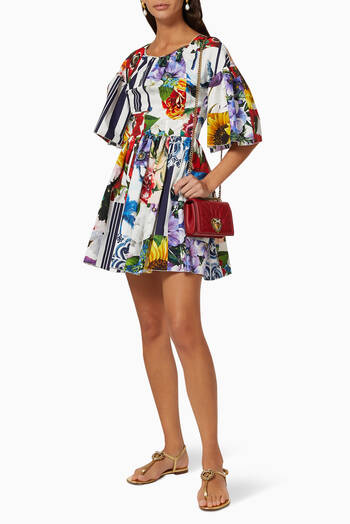 hover state of Patchwork Cotton Poplin Dress