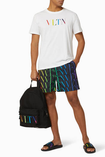 hover state of VLTN TIMES Nylon Swim Shorts