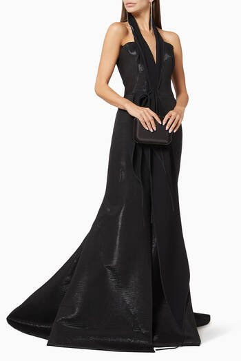 hover state of Aroused Ruffle Evening Gown