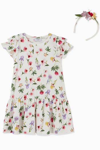 hover state of Floral Jersey Dress