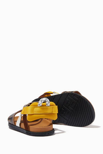 hover state of Monogram Sandals in Leather