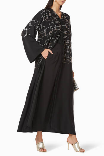 hover state of Hand Embroidered Abaya