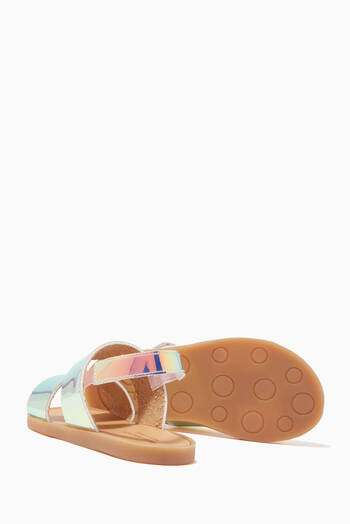 hover state of Iridescent Double Band Sandals