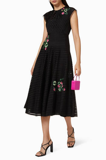 hover state of Grosgrain Floral Dress