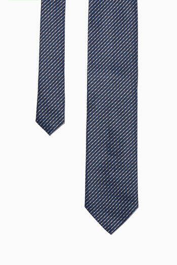 hover state of Geometric Print Silk Tie