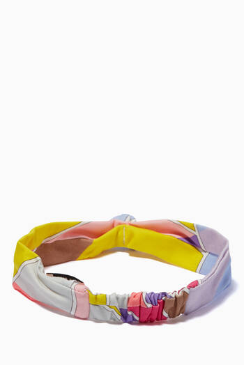hover state of Quirimbas Print Headband in Cotton Jersey