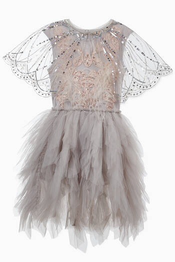 hover state of Cape Town Embellished Tulle Cape