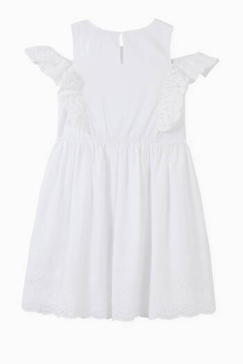 hover state of Broderie Anglaise Dress in Organic Cotton