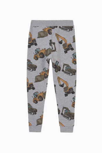hover state of Construction Print Sweatpants in Stretch Organic Cotton
