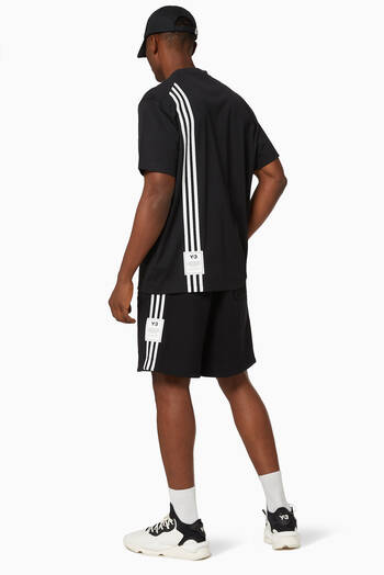 hover state of M 3 Striped Cotton Terry Shorts
