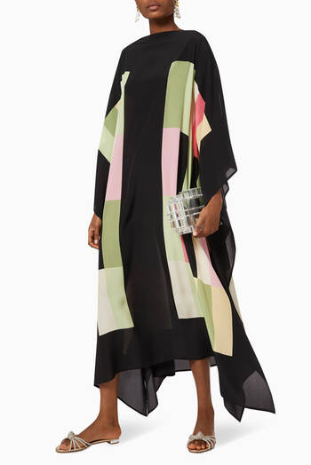 hover state of Sinatra Long Scarf Dress