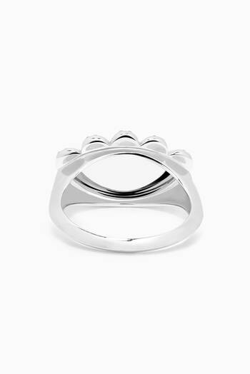 hover state of My Eyes Diamond Ring in 18kt White Gold