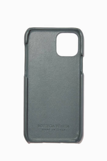 hover state of iPhone 11 Pro Case in  Intrecciato Calfskin