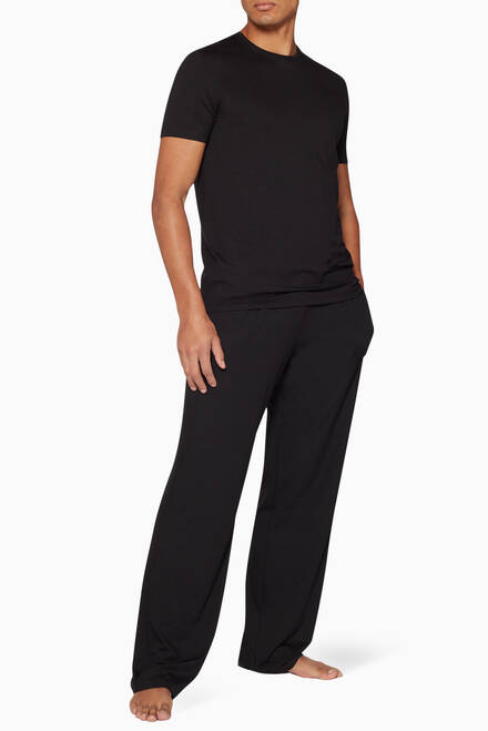 hover state of Black Micro-Modal Basel Pants