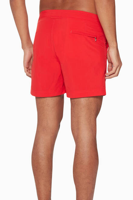 hover state of Rescue-Red Swim Shorts